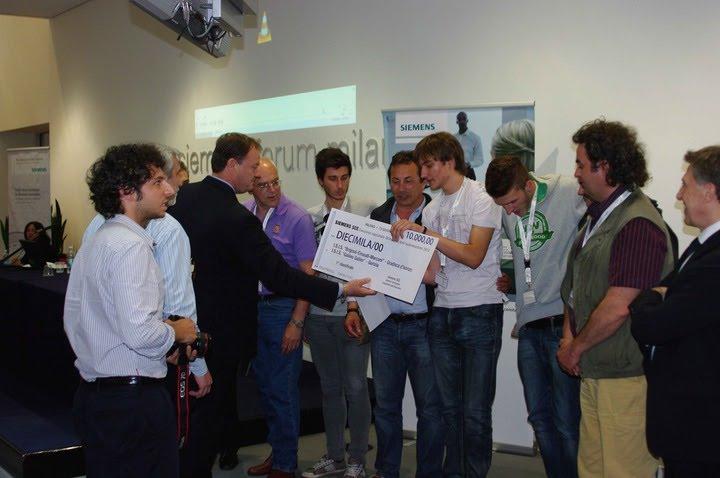Olimpiadi Automazione 2012, la consegna del premio