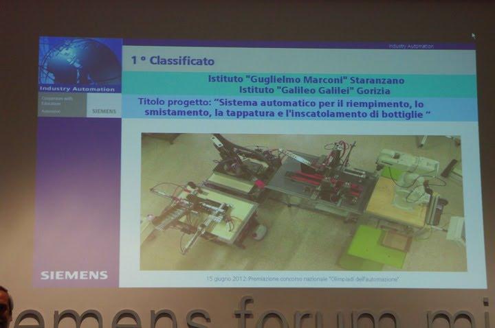 Olimpiadi Automazione 2012, schermata di presentazione